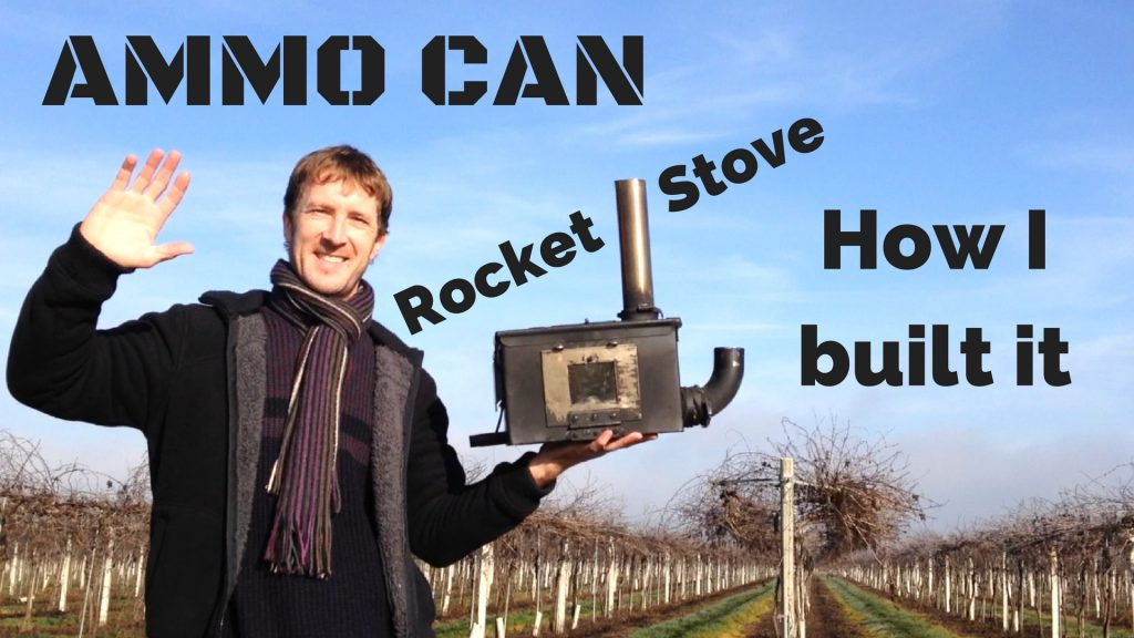 Ammo can rocket stove mk II build details