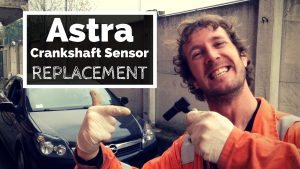 Astra crankshaft sensor replacement. A step-by-step DIY tutorial