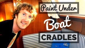 how to paint under boat stands