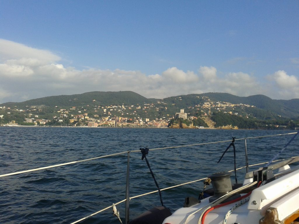 Sailing near Lerici castle