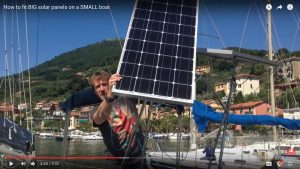 Boat solar panel tracking mount