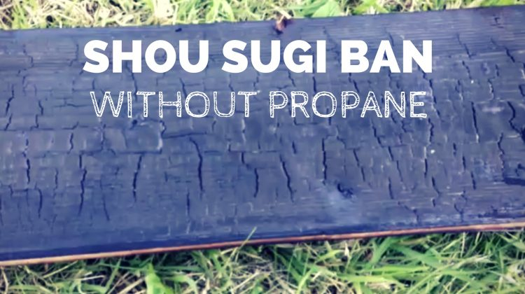 Shou Sugi Ban – charred wood effect. A DIY Tutorial