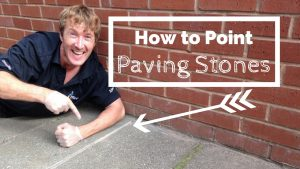 How to point between paving stones