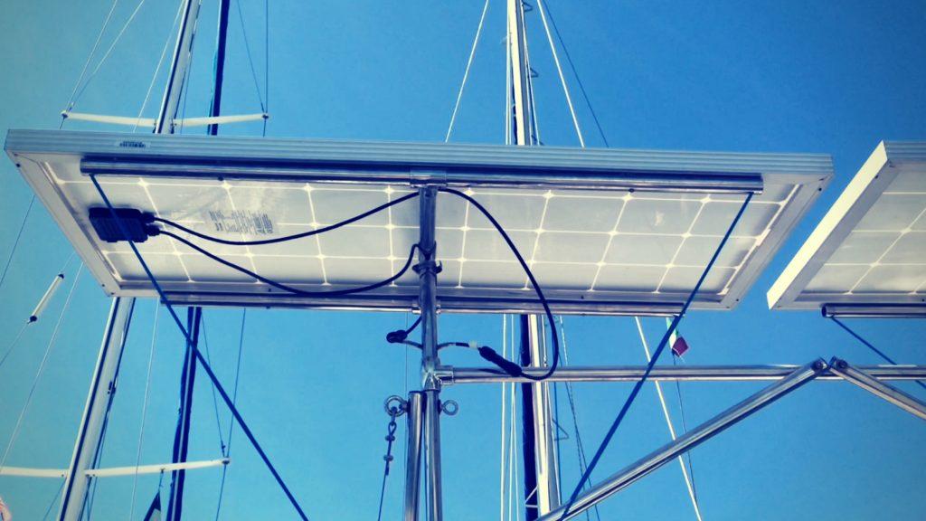 Boat solar panel installation